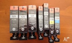 7 Canon Ink Cartridges to suit a Canon Pixma MG5150,