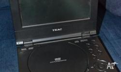 Teac Portable DVD player with TFT/LCD screen..Has power