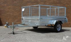 7� x 5� Tipper Trailer with Cage (HS75CT) *TARE: 255