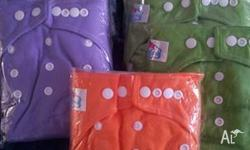 7x BabyLand Modern Cloth Nappies with Linners still