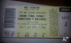 Selling 7 NRL Grand Final Tickets. These tickets are in