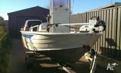 4.6m stessco centre console , 40 hp mariner just been