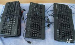 8 Assorted USB Keyboards in good working condition.