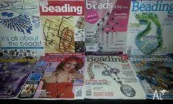 8 Bulk Magazines on Beading and Making Jewellery. All