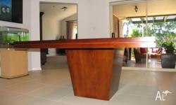 8 Seater American Oak Legless Dining Table Custom made