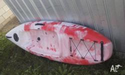 Near brand new adult size 8ft Kayak, as is with no