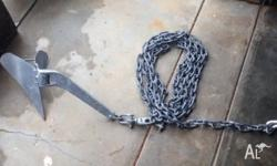 Quality galvanized plough anchor with 8m galvanized