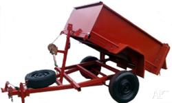 8x5 Winch Tipper Heavy Duty Commercial Trailer Single