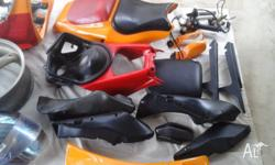 Duel seat side fairings front fairing as set + many