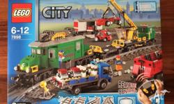 99% new Lego City 7898 Cargo Train Deluxe half of them