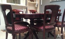 Beautifully craftsman-built dining table with twin