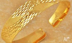 9K GOLD FILLED WOMEN'S CUFF BRACELET SIZE 65 * 15MM