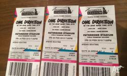 2 x One Direction Tickets Friday 20th of Feb @ 7pm Row