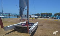 A class catamaran for sale Recently repsprayed