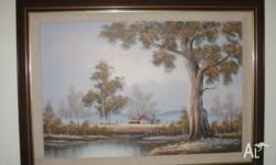 "A Very Beautiful Large ""Australian Landscape oil"
