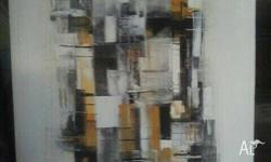 Brand New Abstract Painting on Canvas. Approx 60cm x