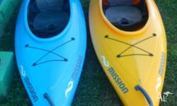 $750 each kayak or $1400 for the pair! Includes