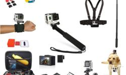 Accessories for GoPro Hero 4, 3+, 3, 2, 1 and GoPro