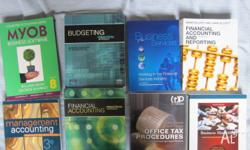 I have a few accounting textbooks for sale used for