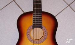 acoustic guitar steel strings used once as new. has
