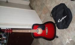 1 martinez acoustic guitar with inbuilt tuner and