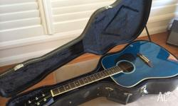 Blue Bluesman acoustic guitar - perfect condition.