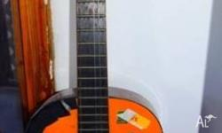 Acoustic guitar Made in Korea CONCERTER Black duct tape
