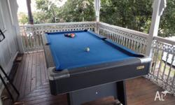 Action Sports 7 x 3 Pool table (wood base) Cloth is in