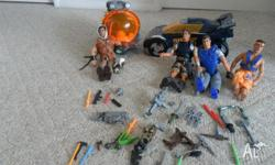 Action Man Figures and Vehicles - Good used condition