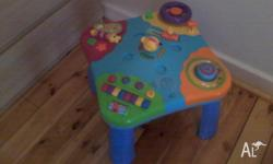 Great activity table. Excellent entertainment for