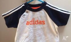 ADIDAS boys t-shirt 9M Purchased in Europe Hardly worn,