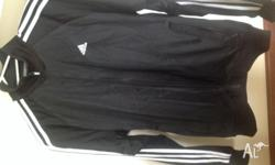 Adidas Men's track suit in size small 1 x black zipped