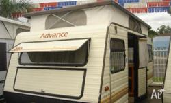 ADVANCE TOWN & COUNTRY 15ft pop top, 1989, CARAVAN,
