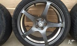 "Advanti racing 18"" rims with tyres. Tyres Maxxis MA-V1"