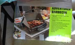 Compact portable barbecue with generous 46cm x 24cm
