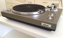 For sale is an AKAI AP-100C turntable circa 1978 in