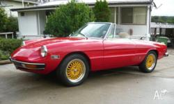 1972 ALFA ROMEO SPIDER 2000. 6424 kms since full body