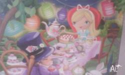 this alice in wonderland canvas is beauitful any little