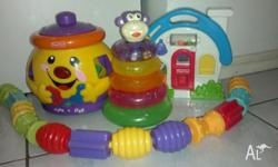 this includes fisher price musical coockie jar fisher