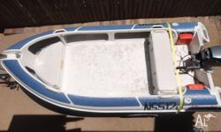 Tuff Duck 3.8 fibreglass boat with deep V hull made by
