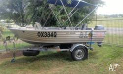 Ally Craft Arrow 3.55mtr Yamaha 8 hp 2 stroke 20Lfuel