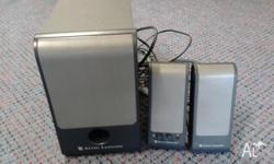 ALTEC LANSING. 2 speckers including sub specker. Very