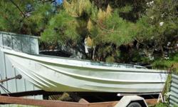 FOR SALE Aluminium boat (12 foot) on old trailer