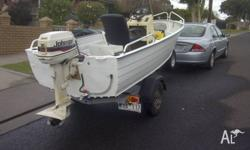 Centre console Aluminium 14 foot boat 30 Hp Johnson