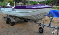 Great runabout dinghy including trailer and 30hp