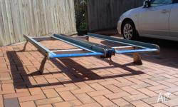 Aluminium Roof Rack, heavy duty with winch. Suit larger