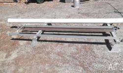 Aluminium roof rack suit van, with PVC tube for pipe,