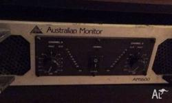 AM1600 Power Amplifier Australian Monitor The AM1600 is