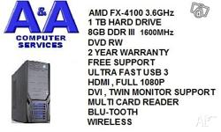 BRAND NEW / 2 YEAR WARRANTY AMD QUAD CORE 3.6 GHz