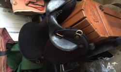"Ammo saddle in good condition. Black 17"". Comes fully"